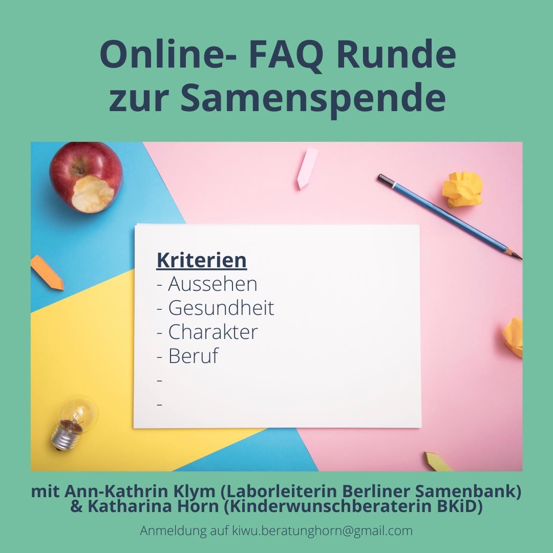 Online FAQ Samenspende weg der solomama